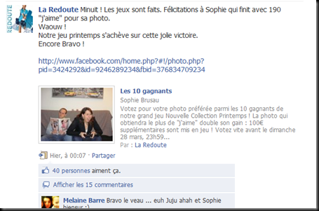 Marketing social a la redoute