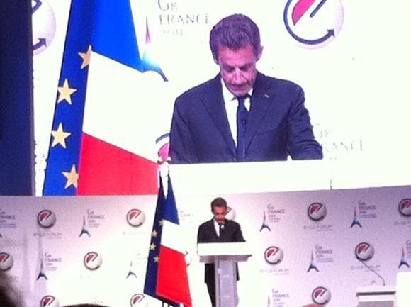 Démarrage du #eg8 avec le discours du President Sarkozy