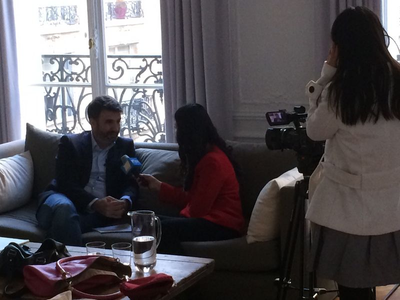 Interview TV Chinoise sur le Bitcoin en France.